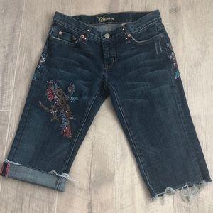 Bebe Bermuda jean shorts size 27